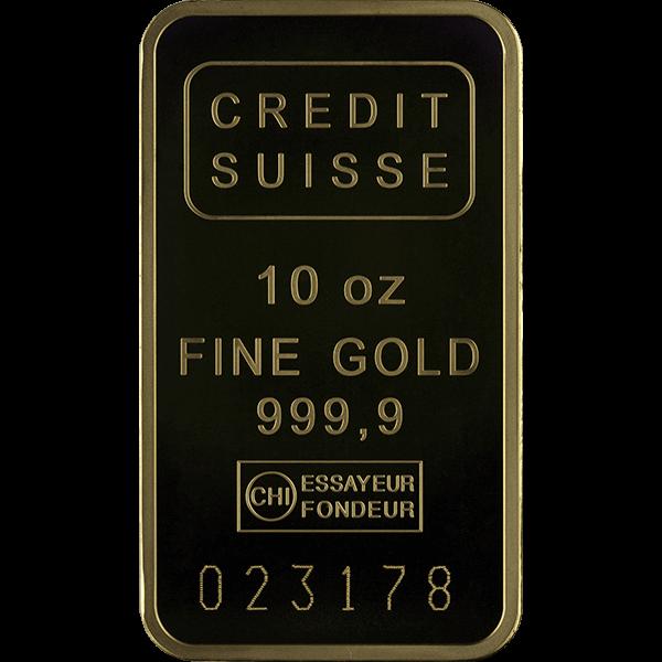 GOLD BARS 10 OZ 10 OZ GOLD BAR CREDIT SUISSE Obverse