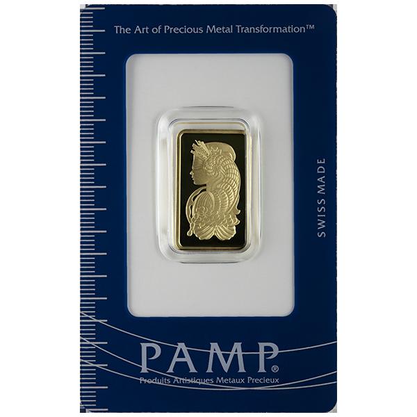 GOLD BARS ASSORTED WEIGHTS 10 GRAM GOLD BAR PAMP Obverse
