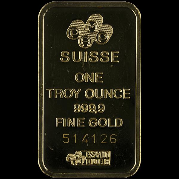 GOLD BARS 1 OZ 1 OZ GOLD BAR Obverse