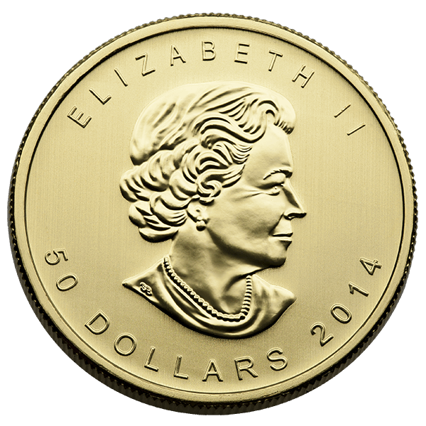 CANADIAN GOLD 1 OZ CANADIAN GOLD MAPLE LEAF .9999 FINE Reverse