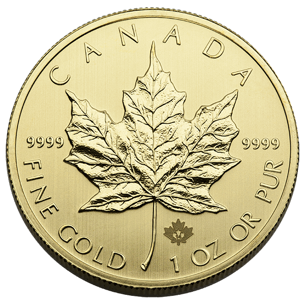 CANADIAN GOLD 1 OZ CANADIAN GOLD MAPLE LEAF .9999 FINE Obverse