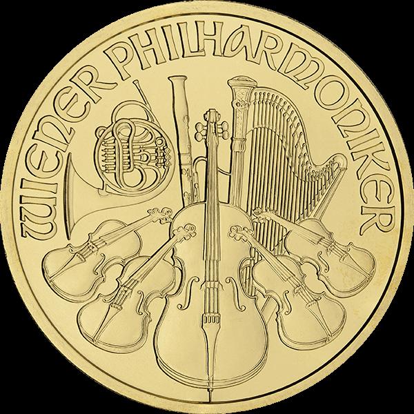 AUSTRIAN GOLD PHILHARMONIC 1 OZ AUSTRIAN GOLD PHILHARMONIC Obverse