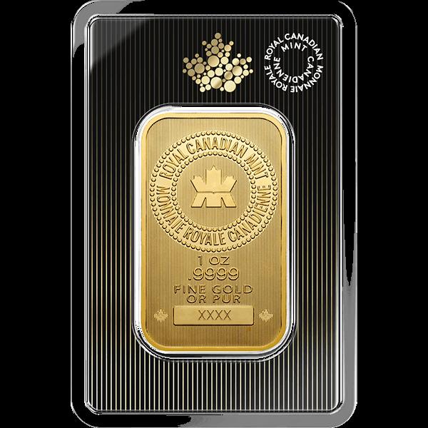GOLD BARS 1 OZ 1 OZ GOLD BAR RCM Obverse