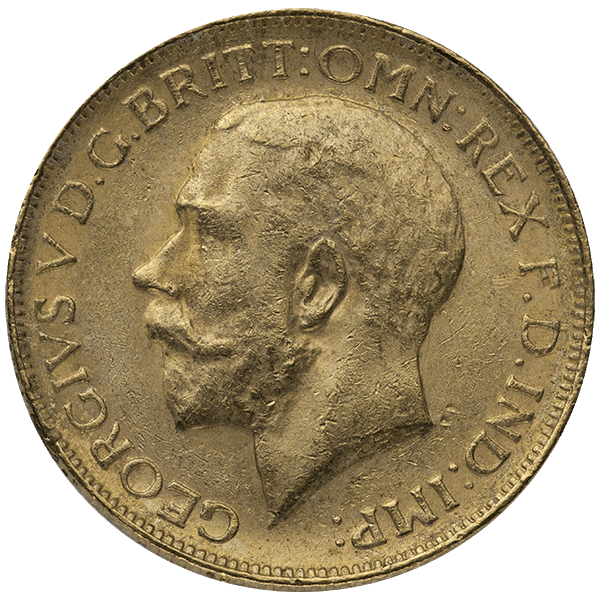 WORLD GOLD ENGLISH GOLD SOVEREIGN KING Obverse