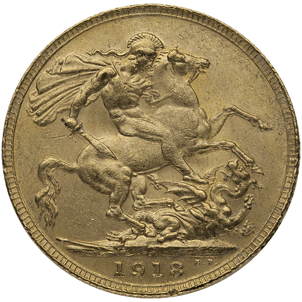 WORLD GOLD ENGLISH GOLD SOVEREIGN KING Reverse