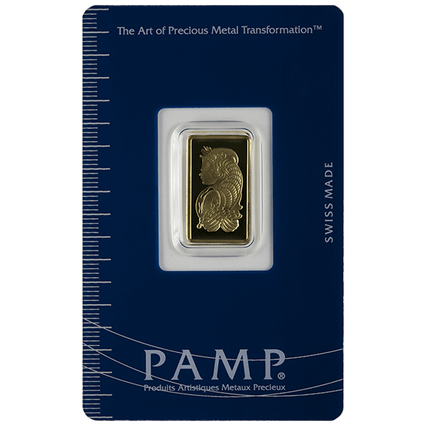 GOLD BARS ASSORTED WEIGHTS 2.5 GRAM GOLD BAR PAMP Obverse