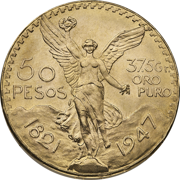 MEXICAN GOLD 50 PESO MEXICAN GOLD COIN Obverse