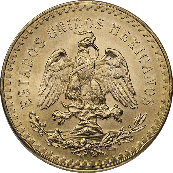 MEXICAN GOLD 50 PESO MEXICAN GOLD COIN Reverse