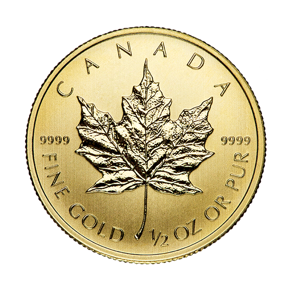 CANADIAN GOLD 1/2 OZ CANADIAN GOLD MAPLE LEAF (IN PLASTIC) Reverse