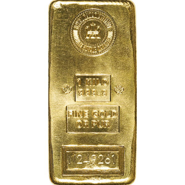 GOLD BARS ASSORTED WEIGHTS KILO GOLD BAR RCM Obverse