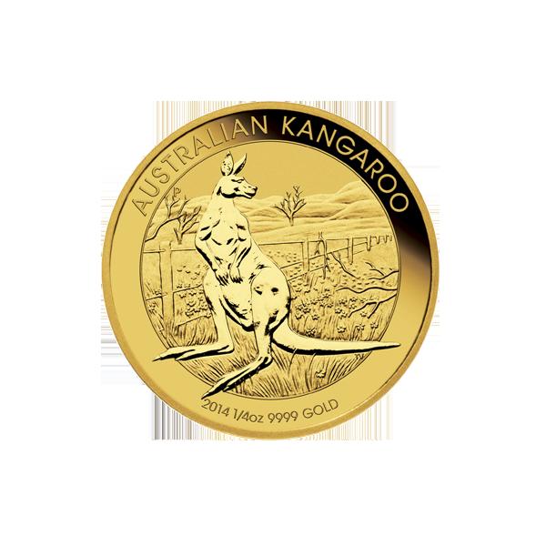 AUSTRALIAN GOLD 1/4 OZ AUSTRALIAN GOLD KANGAROO (IN PLASTIC) Reverse