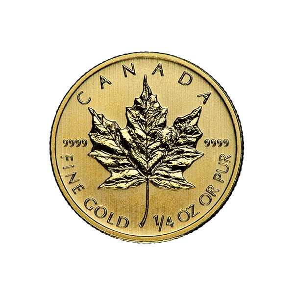 CANADIAN GOLD 1/4 OZ CANADIAN GOLD MAPLE LEAF (IN PLASTIC) Reverse