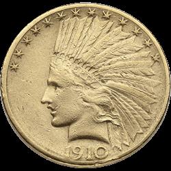 U.s. Gold VF $10 Indian