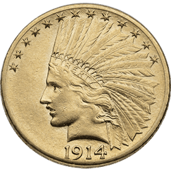 U.s. Gold XF $10 Indian
