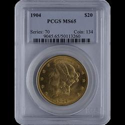 U.s. Gold PCGS MS65 $20 Liberty