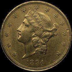 U.s. Gold XF $20 Liberty
