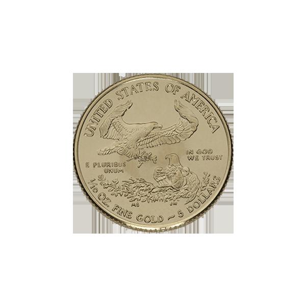 AMERICAN GOLD EAGLE 1/10 OZ AMERICAN GOLD EAGLE Reverse