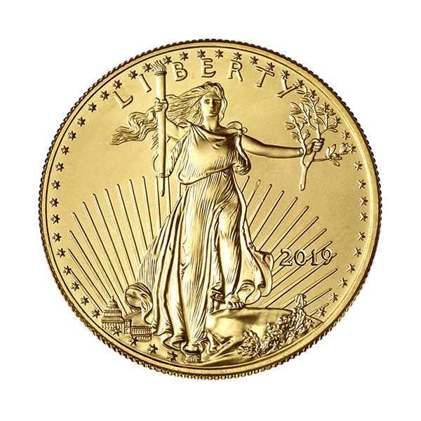 AMERICAN GOLD EAGLE 2019 1/2 OZ AMERICAN GOLD EAGLE Reverse