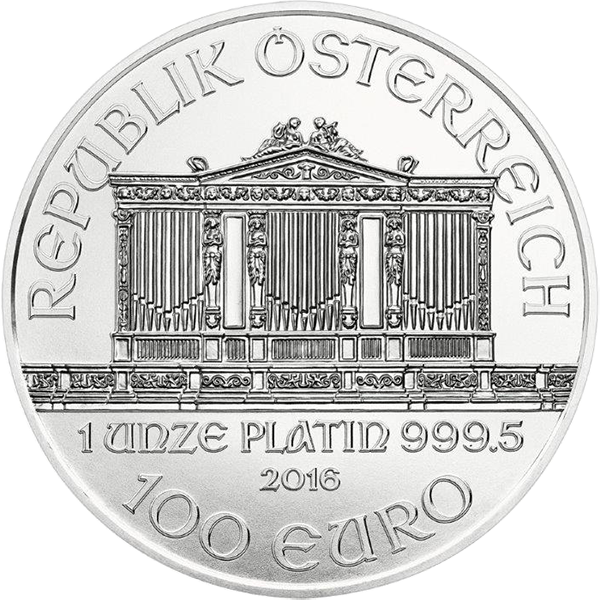 AUSTRIAN PLATINUM PHILHARMONIC 1 OZ AUSTRIAN PLATINUM PHILHARMONIC Obverse