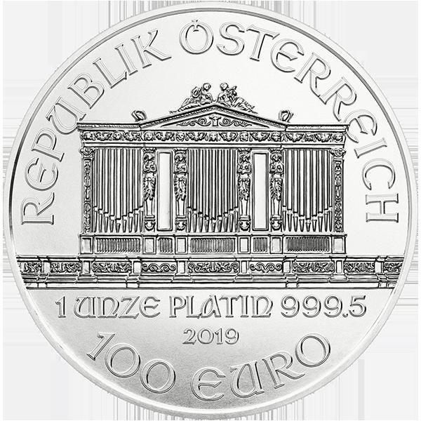 AUSTRIAN PLATINUM PHILHARMONIC 2019 1 OZ AUSTRIAN PLATINUM PHILHARMONIC Reverse