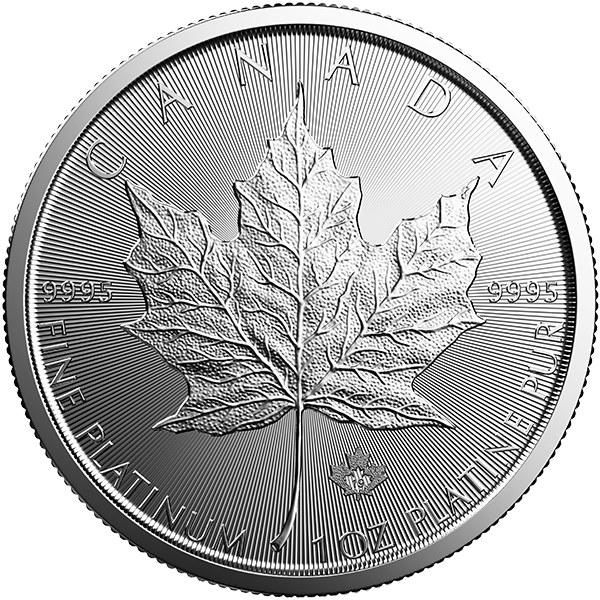 CANADIAN PLATINUM MAPLE LEAF 2019 1 OZ CANADIAN PLATINUM MAPLE LEAF Obverse