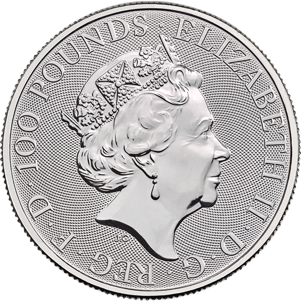 WORLD PLATINUM 2019 1 OZ GREAT BRITAIN PLATINUM BRITANNIA Reverse