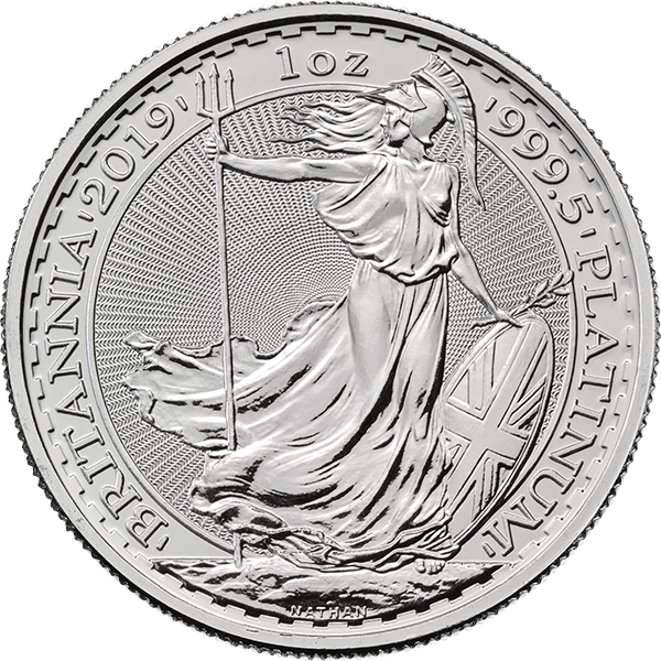 WORLD PLATINUM 2019 1 OZ GREAT BRITAIN PLATINUM BRITANNIA Obverse