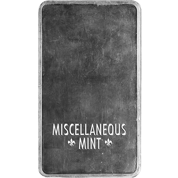 SILVER BARS 100 OZ 100 OZ SILVER BAR Reverse