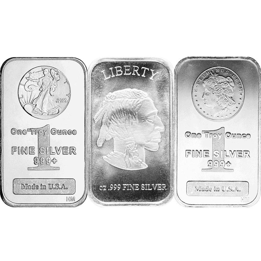 SILVER BARS 1 OZ 1 OZ SILVER BAR Obverse