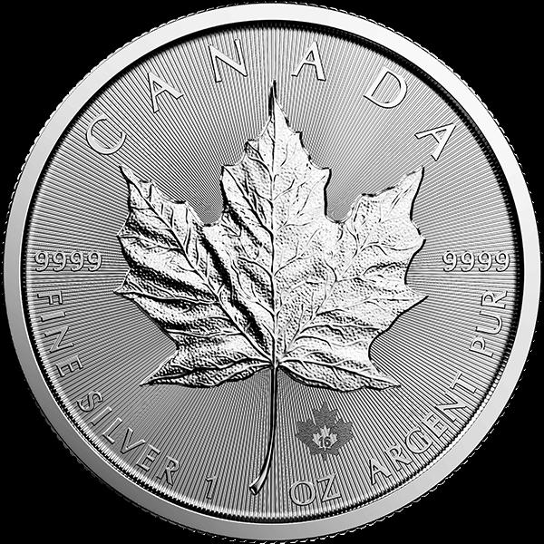 Canadian Silver Maple Leaf 1 Oz 2016