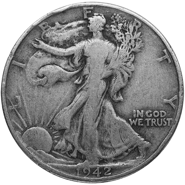 SILVER U.S. COINAGE 90 % 90% AMERICAN SILVER COINS - WALKERS Obverse