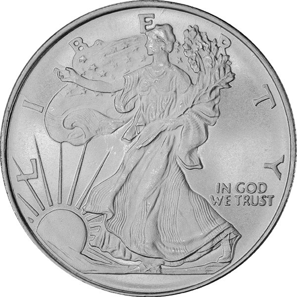 SILVER ROUNDS FRACTIONAL 1/2 OZ SILVER ROUND WALKING LIBERTY Obverse