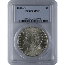$1 U.S. Morgan Silver Dollars PCGS MS63 Pre-21