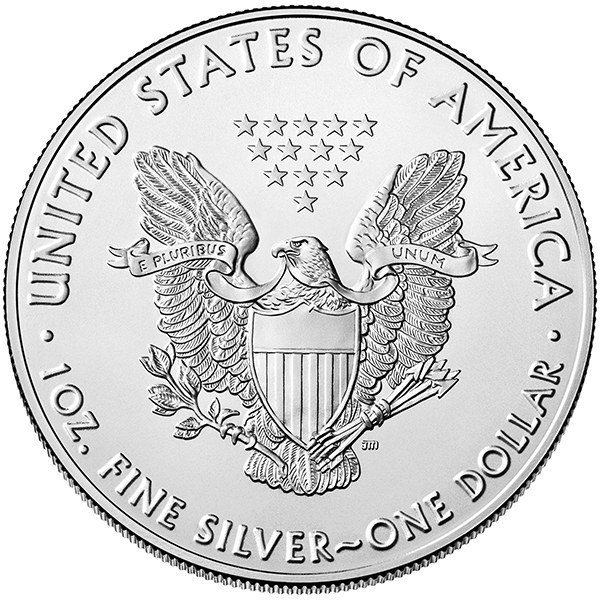 AMERICAN SILVER EAGLE 2019 1 OZ AMERICAN SILVER EAGLE Reverse